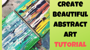How To Do A Paint Pull To Create Beautiful Art | Gorgeous Abstract Designs