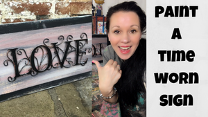 How To Paint A Weathered Look On Wood