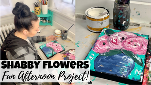 Easy Way To Paint Shabby Flowers | Put Them On Your Painted Furniture