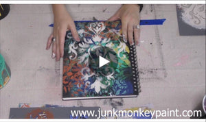 How To Paint Your Journal Cover Shabby Style