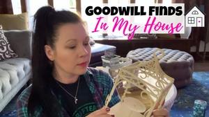 Decorating My Living Room With Thrift Store Finds | Goodwill Haul