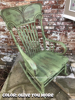 Video Tutorial: 'Olive You More' Distressed Painted Rocker