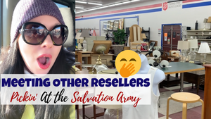 Junk With Me At The Salvation Army Thrift Store | Bumping Into Other Resellers