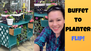 Making An Old Piece Of Furniture Into An Outdoor Porch Flower Planter | The Finished Reveal