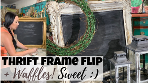 Thrift Store Picture Frame Flip | Make A Stunning Chalkboard