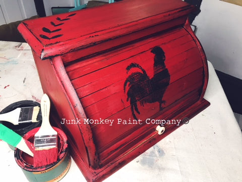 junk monkey red apple breadbox picture