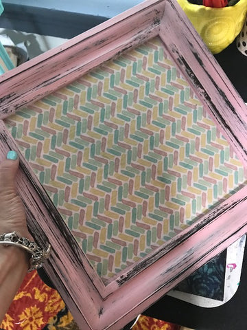 flip a picture frame to a beautiful tray