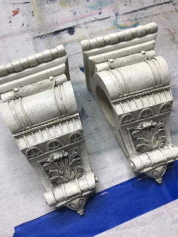 how to paint your corbels