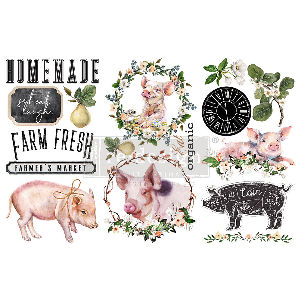 FARM FRESH- 3 SHEETS, 6″X12″ transfer by Redesign with Prima! New release!