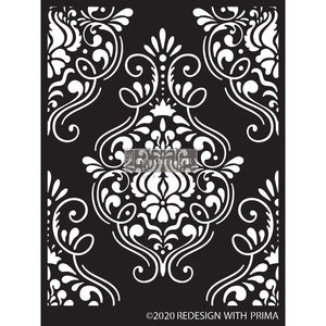 FLOURISH EMBLEM stencil by redesign with Prima – 9″X13.5″