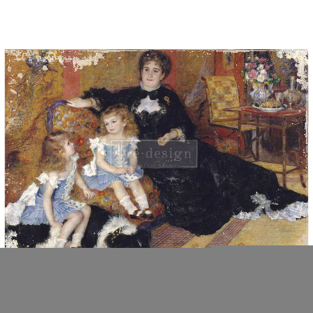 FAMILY MOMENT A1 DECOUPAGE Paper – 23.4″X33.1″ Mulberry Rice Paper! Limited Edition