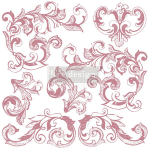 Elegant Scrolls Decor Stamps by ReDesign with Prima