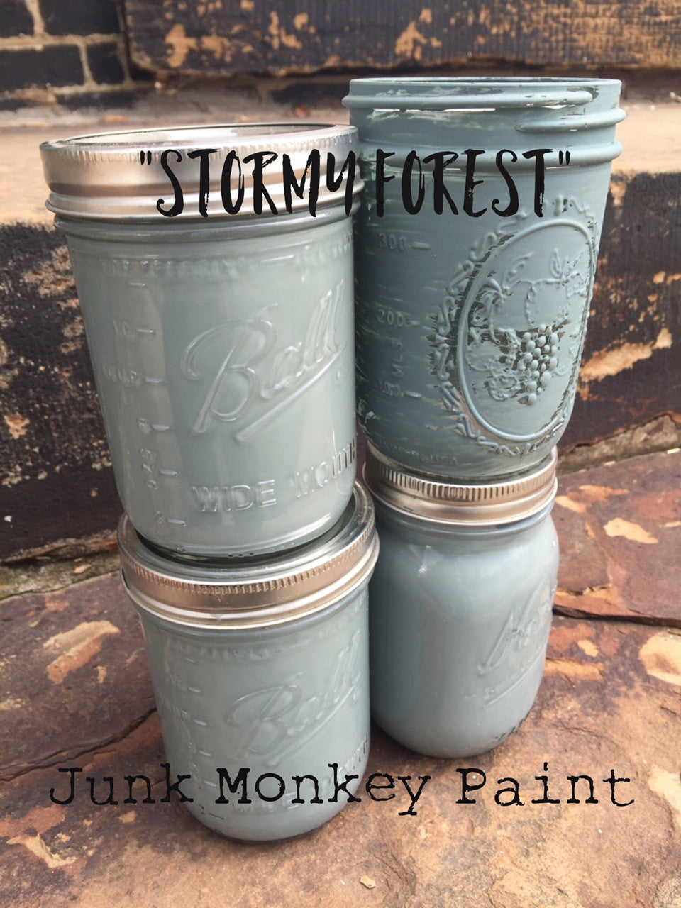 Junk Monkey Paint - Stormy Forest