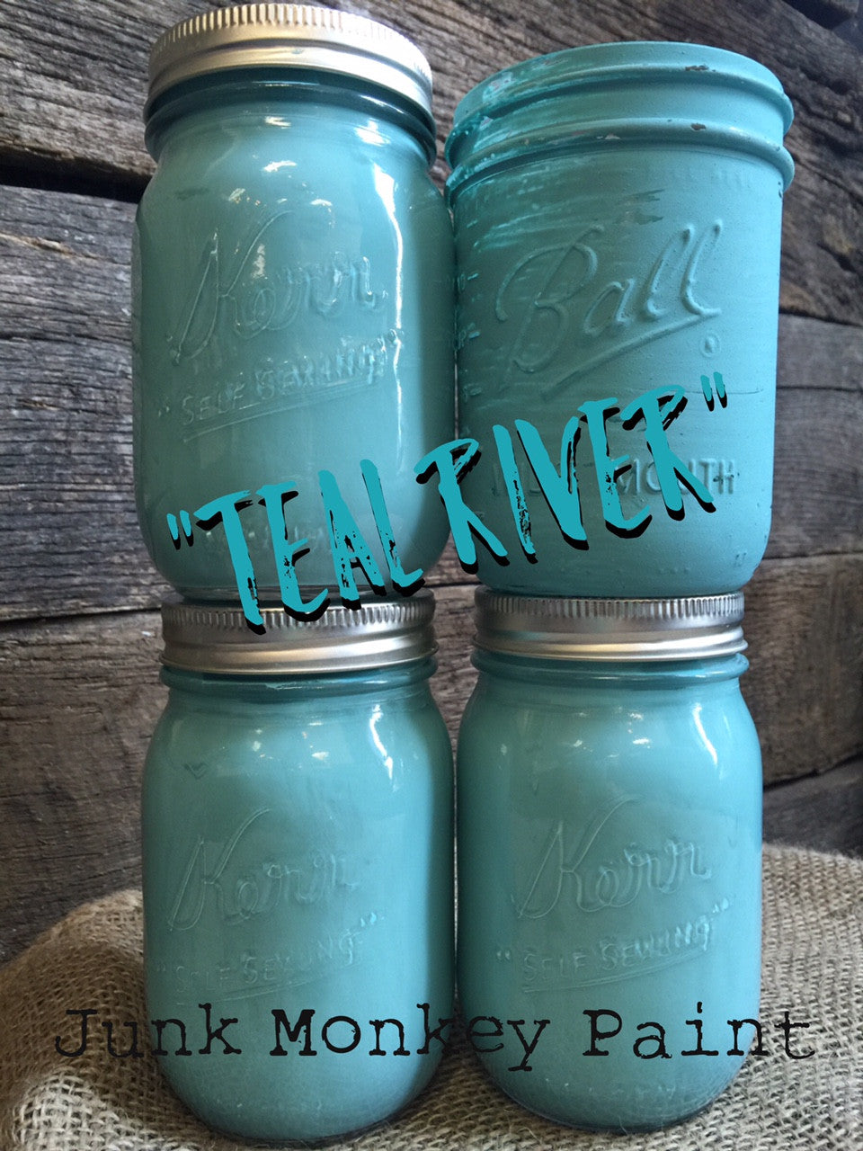 Junk Monkey Paint - Teal River