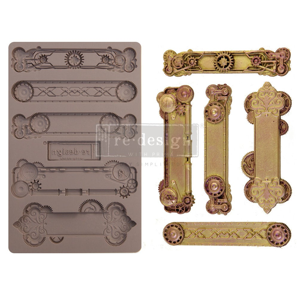 STEAMPUNK PLATES mould by Redesign with Prima! ReDesign with Prima Moulds, Silicone Moulds, Silicone Mold