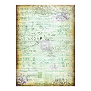 Finnabair tissue Paper Musica 6 sheets! Great for decoupage