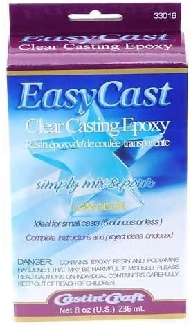 Great for moulds! Easy Cast Clear Casting Epoxy Enamel Resin 8 oz