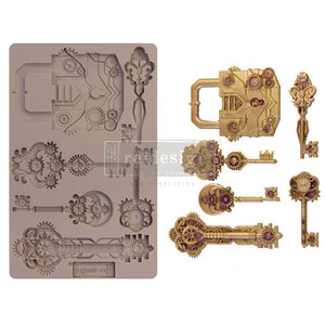 MECHANICAL LOCK & KEYS mould by Redesign with Prima! ReDesign with Prima Moulds, Silicone Moulds, Silicone Mold