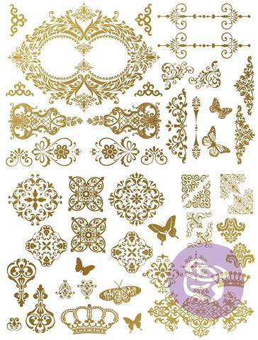 Gilded Baroque Scrollwork Foil Transfers by redesign with Prima! Limited stock! Retired