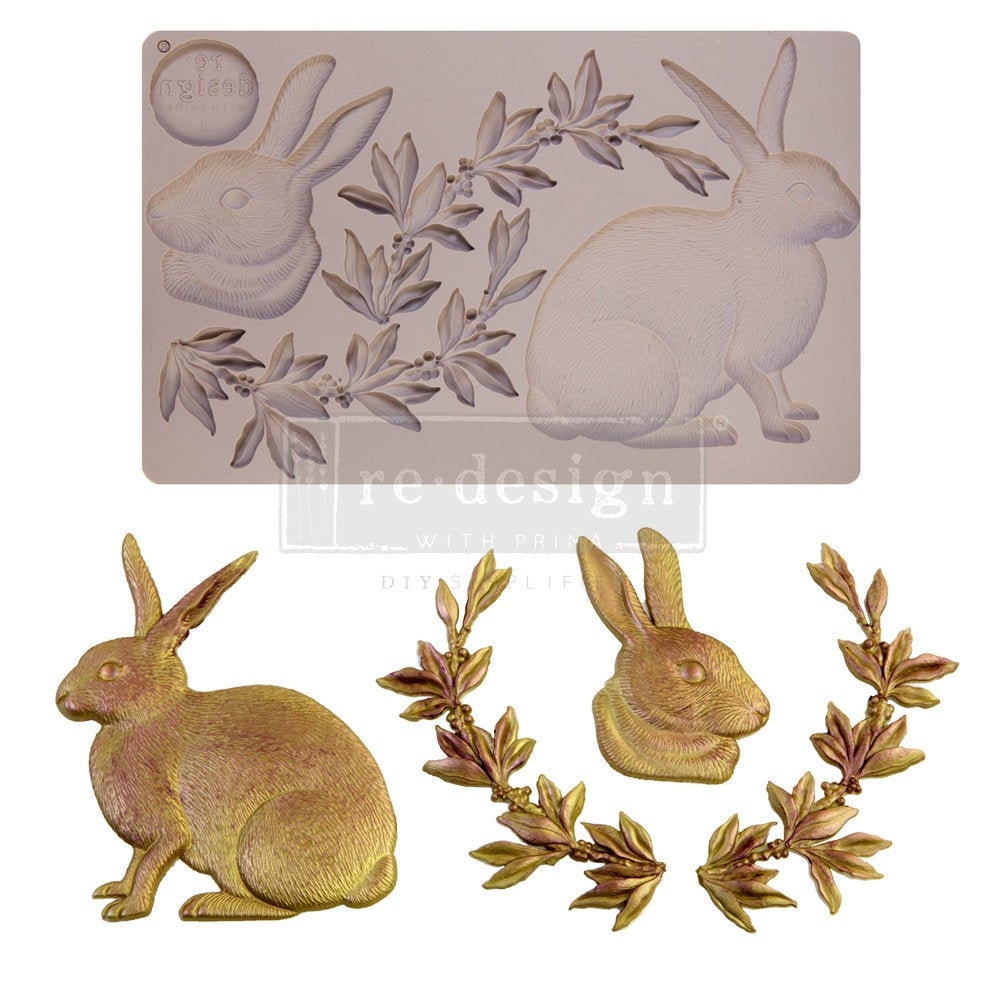 Meadow Hare mould by Redesign with Prima! ReDesign with Prima Moulds, Silicone Moulds, Silicone Mold