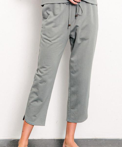 Fabina LA Organic Hemp Cropped Jogger - Grey - nat + sus/the shop