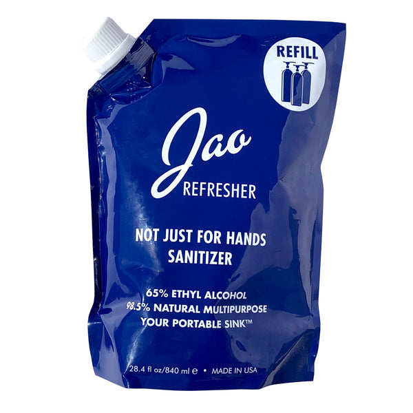 NEW! Jao Brand Refresher/Sanitizer - Refill Pouch 28.4 oz - nat + sus/the shop