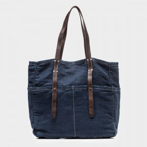 Canvas Six Pocket Tote - Various Colors - nat + sus