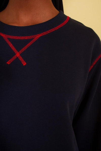 L.F. Markey Thierry Sweatshirt - Navy - nat + sus