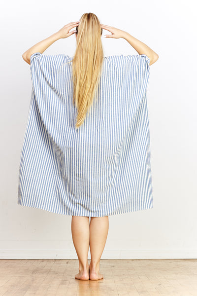 Disha Dress - Blue Stripe - nat + sus
