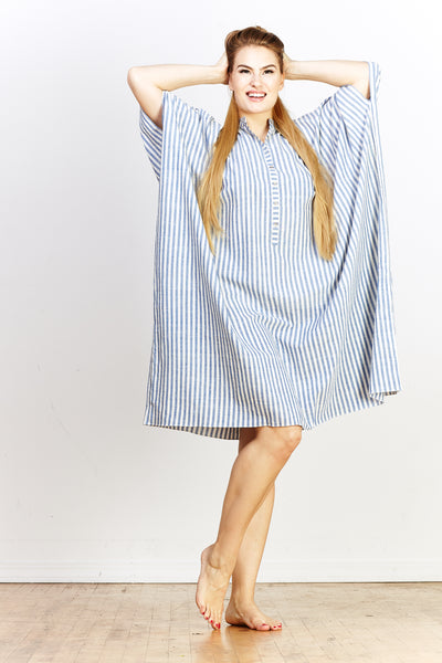 Sale! Disha Dress - Blue Stripe - nat + sus