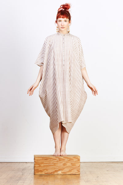Disha Dress - Brown Stripe - nat + sus