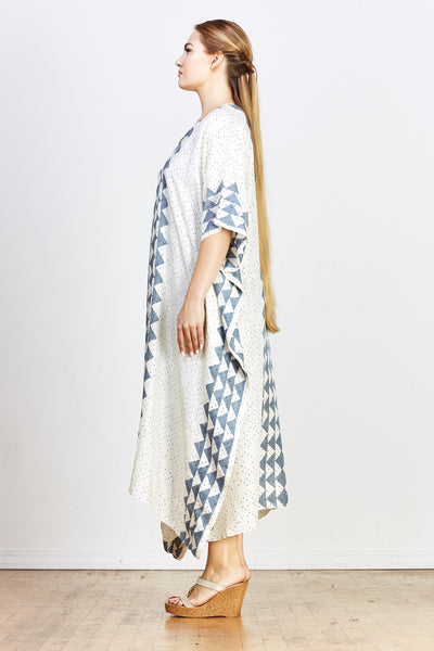Safari Jim Kaftan - Grey Triangle - nat + sus