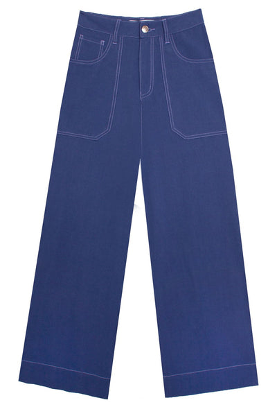 L.F. Markey Carpenter Trouser - Cobalt - nat + sus/the shop