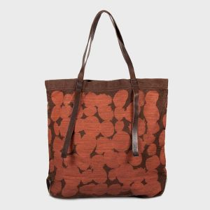 Dots Printed Canvas Tote - Brown/Orange (LAST ONE EVER!) - nat + sus