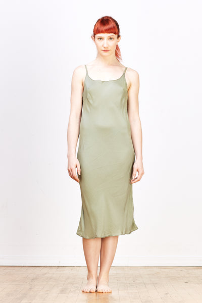 Faye Slipdress in Rayon/Silk - Pebble - nat + sus