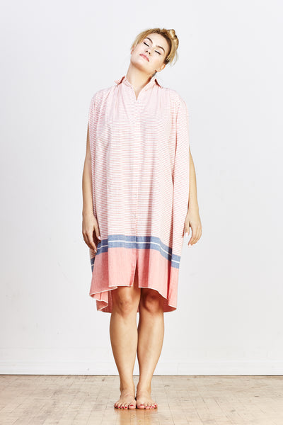Nala Geeta Dress - Orange Stripe - nat + sus