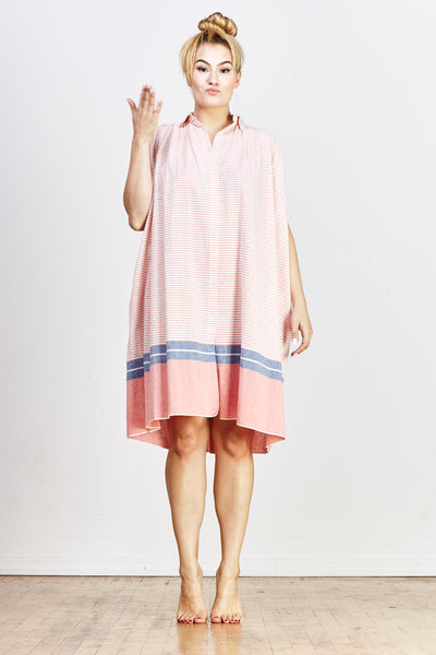 Sale! Nala Geeta Dress - Orange Stripe - nat + sus