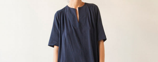 Long Sleeve Crinkle Cotton Tunic - Various - nat + sus