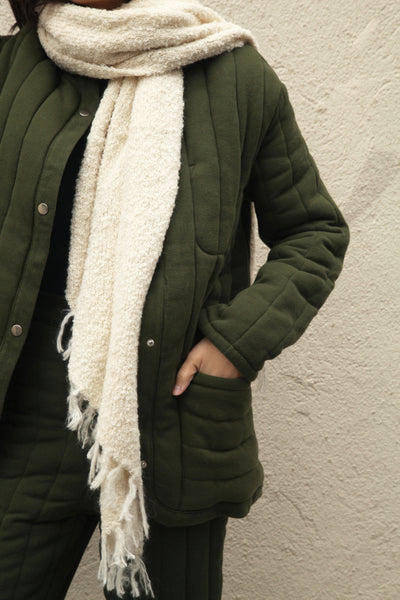 Sawyer Quilted Jacket - Caper - nat + sus