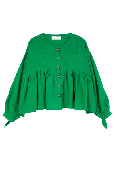 L.F. Markey Kenny Shirt - Green - nat + sus/the shop