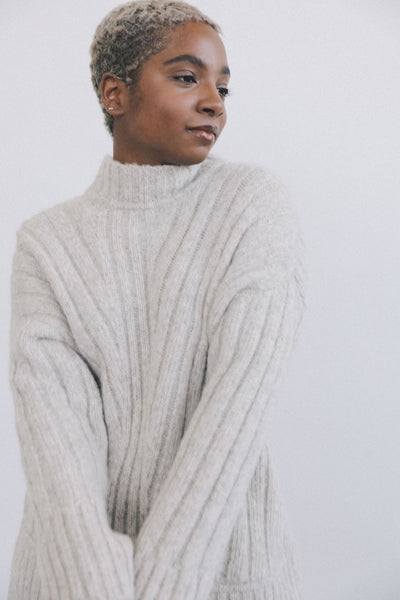 Tate Sweater - Fog Grey or Cream - nat + sus