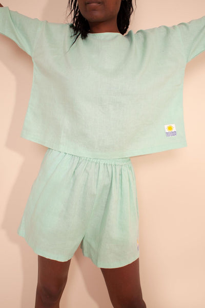 L.F. Markey Basic Linen Top - Mint