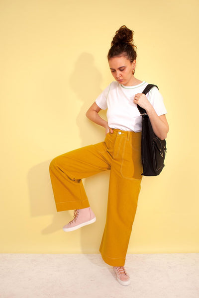 L.F. Markey Carpenter Trouser - Mustard - nat + sus/the shop