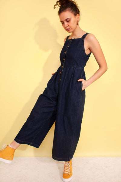 Jorn Dungaree Boilersuit - Indigo Denim - nat + sus