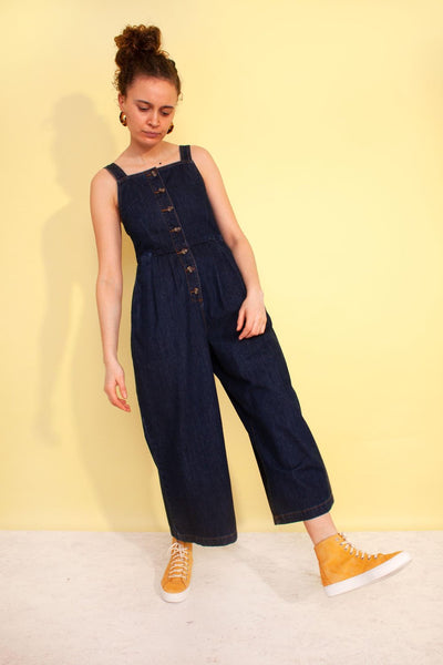 Jorn Dungaree Boilersuit - Indigo Denim - nat + sus/the shop