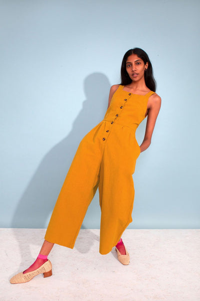 Jorn Dungaree Boilersuit - Mustard - nat + sus/the shop