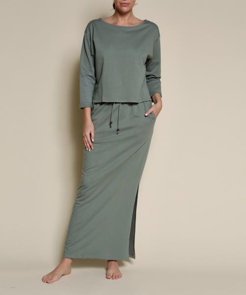 Fabina LA Hemp Set - Sage Green (two piece set) - nat + sus/the shop