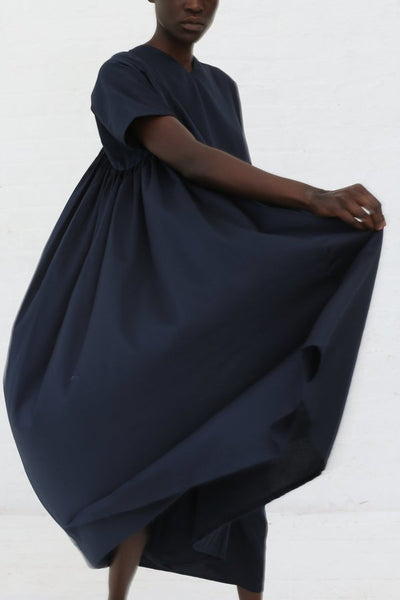 Black Crane Petal Dress - Dark Navy - nat + sus