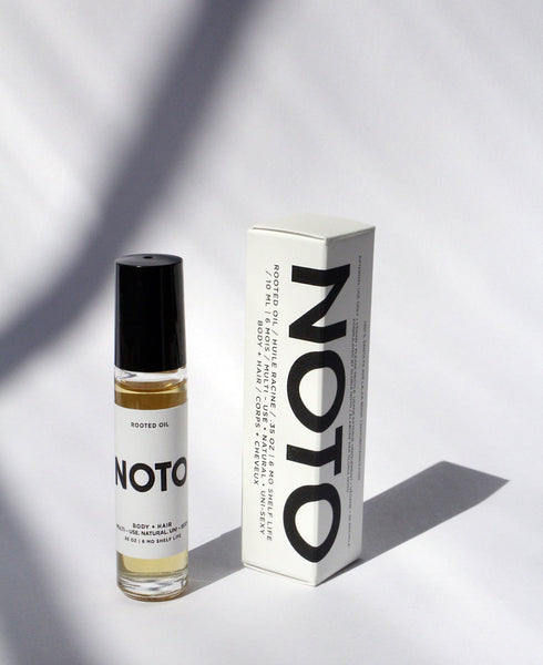 NOTO Botanics - Rooted Oil Roller .35oz - nat + sus