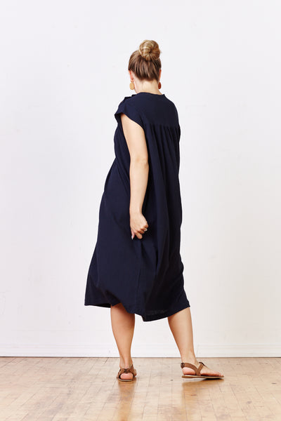 Yoke Dress w/Button Shoulder Detail - Various Colors - nat + sus